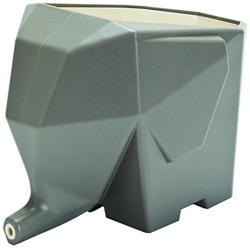 CECII Elephant Design Plastic Cutlery Drainer Storage Holder Box for Home Kitchen Bathroom Grey