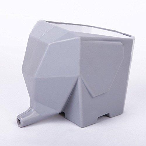 SIS Elephant-shaped Multi-role Plastic Cutlery Drainerflower Potbrush Pot-grey