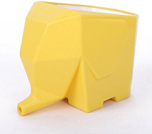 SIS Elephant-shaped Multi-role Plastic Cutlery Drainerflower Potbrush Pothome decor-yellow