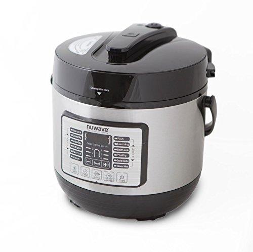 Nuwave 8 qt Digital Pressure Cooker 11 preset functions auto keep warm