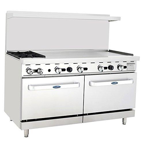 CookRite Natural Gas Range 2 Burner Countertop Hotplates 48 Commercial Griddle With 2 Standard Ovens 60 Restaurant Range