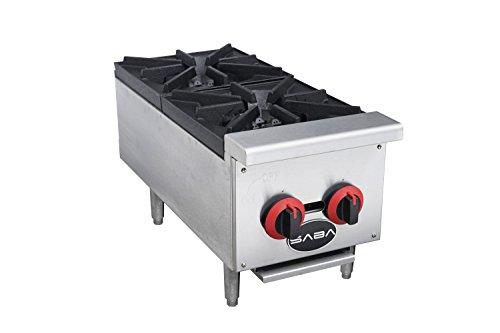 Heavy Duty 2 Burner Gas Countertop Hotplate Cooker