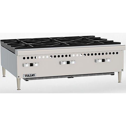 Vulcan VCRH36 Restaurant Series Gas Hot Plate - 36W 6 Burners