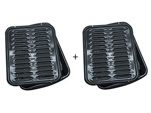 Range Kleen Oven Broiler Pan With Rack 16 x 125 x 16 2-PACK