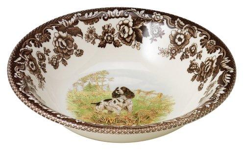 Spode Woodland Hunting Dogs English Springer Spaniel Cereal Bowl 20cm