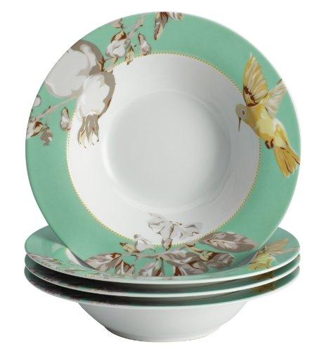 BonJour 4-Piece Dinnerware Fruitful Nectar Porcelain SoupPasta Bowl Set