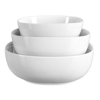 3 Piece Denmark Soft Square Serving Bowls