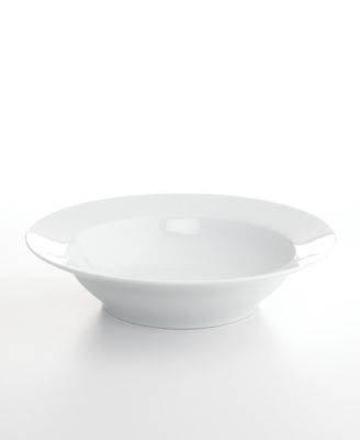 The Cellar Whiteware Rimmed Pasta Serving Bowl