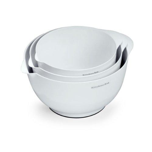 KitchenAid 3-Piece Mixing Bowl Set White