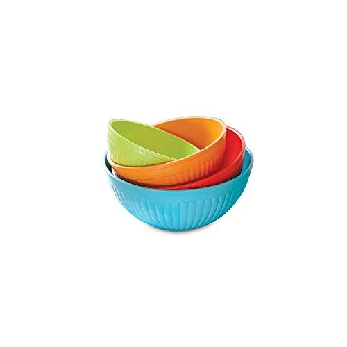 Nordic Ware 4-Piece Prep N Serve Mixing Bowl Set 23557-Quart