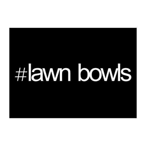 Idakoos Hashtag Lawn Bowls Bold Text Sticker Pack x4 6x4
