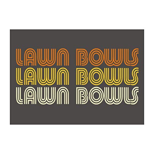Idakoos Lawn Bowls Retro Color Sticker Pack x4 6x4