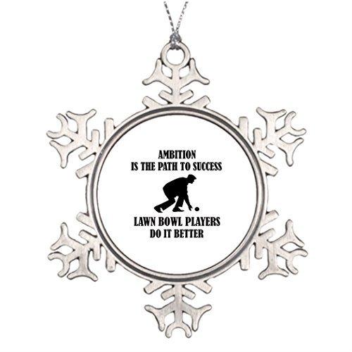 e-Chapman 3 Tree Branch Decoration Lawn Bowl Design Turquoise Christmas Snowflake Ornaments