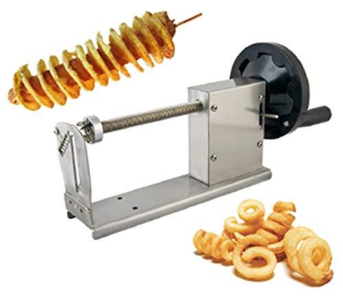 CGOLDENWALL Manual Tornado Potato Slicer Twisted Potato Slicer Spiral Potato Cutter Vegetable Cutter Cutting Machine Full Stainless Steel Body