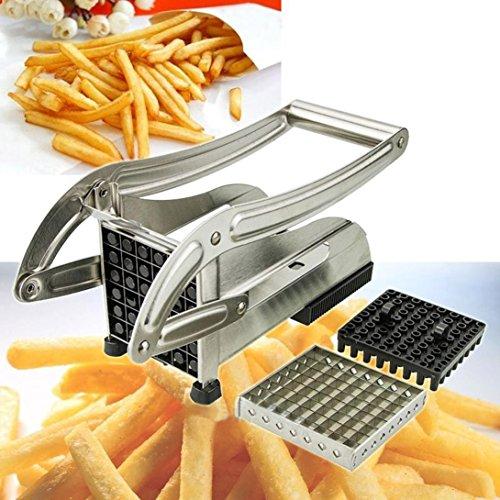 VESNIBA Stainless Steel French Fry Cutter Potato Vegetable Slicer Chopper Dicer 2 Blade
