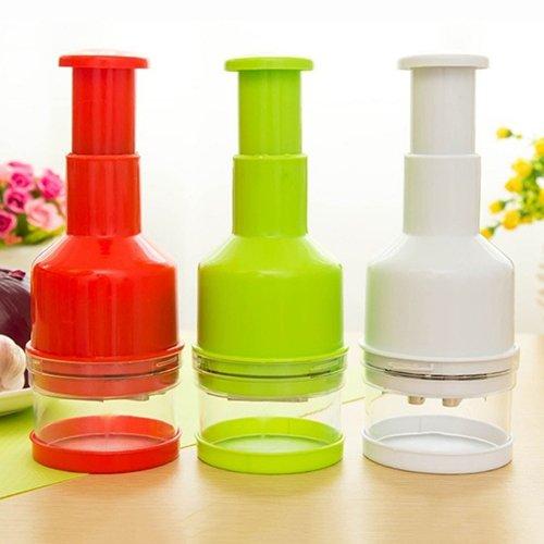 CONSTR -Kitchen Pressing Vegetable Onion Garlic Chopper Cutter Slicer Peeler Dicer Tool