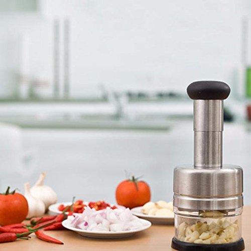 R&B Stainless Steel Kitchen Pressing Vegetable Onion Garlic Chopper Squeezer Crusher Cutter Slicer Peeler Dicer Kitchen Tool