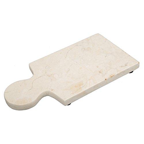 Creative Home Champagne Marble Cheese Paddle Board 12 x 6 Beige
