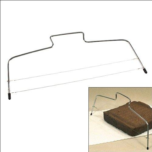 Whitelotous Stainless Steel Adjustable 2 Wires Layer Cake Slicer Leveler Evenly Slices33cm x 16cm