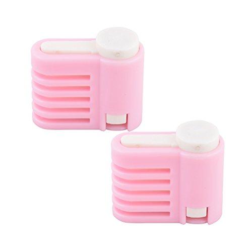 uxcell Plastic Kitchen Gadget Adjustable Cake Leveler Slicer Baking Tool 2 Pcs Pink