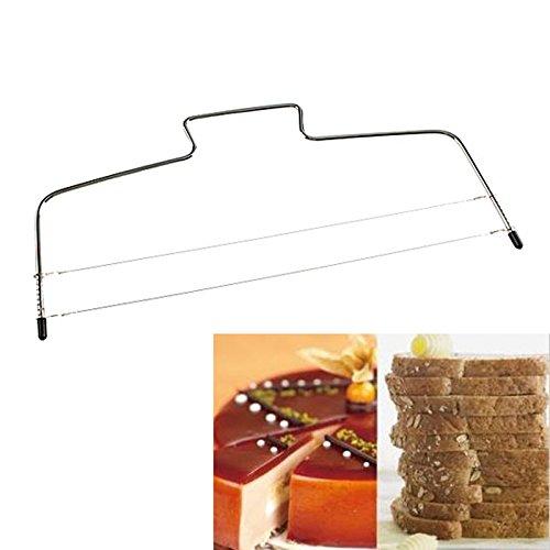 Wire Cake Slicer - 1 Piece Stainless Steel Adjustable Wire Cake Slicer Leveler Slices Cake Cutter Tool Kitchen Gadgets Baking Accessories