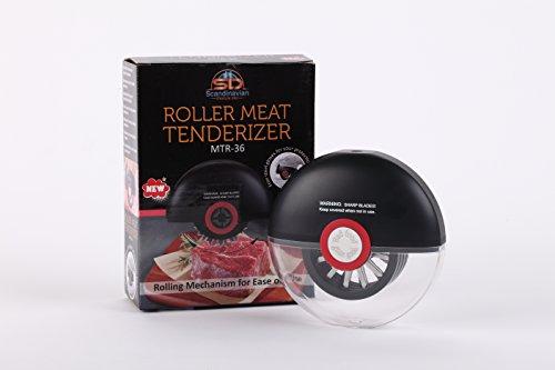 KingBeast Rolling Meat Tenderizer Tool  36 Razor Sharp Stainless Steel Steak Tenderizer Knife Blades Perfectly Tenderizes Steak Chicken Beef Pork Fish  Incl No Cut Safety Gloves