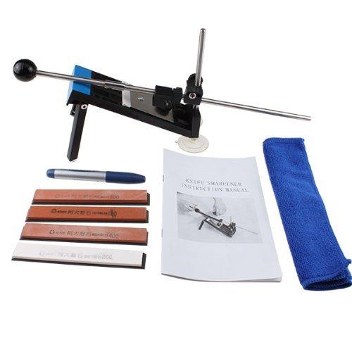 AGPtek Professional Kitchen Knife Sharpener System Fix-angle with 4 Stones