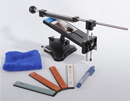 Fixed-angle Knife Sharpener Professional Kitchen Knife Sharpener Kits System 4 Sharpening Stones