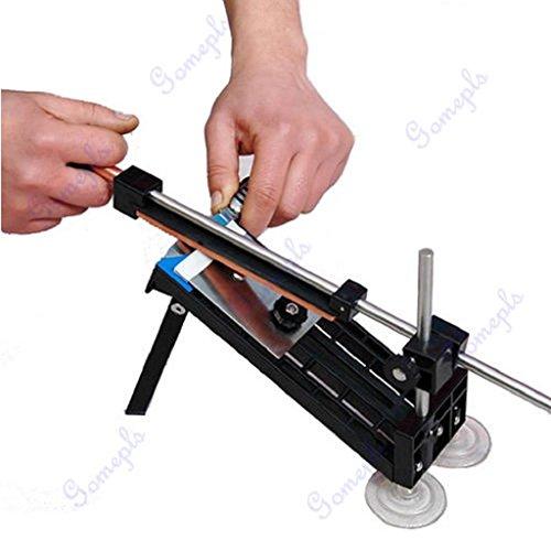 Pink-day Professional Kitchen Knife Sharpener System Fix-angle Sharpening Frame 4 Stones
