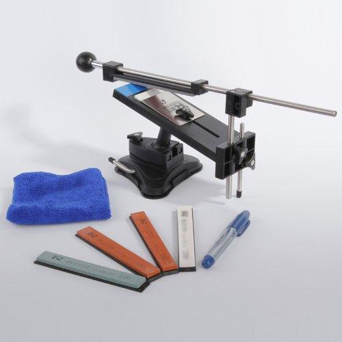 Upgraded Version Fixed-angle Knife Sharpener Professional Kitchen Knife Sharpener Kits System 4 Sharpening Stones 120 320 600 1500