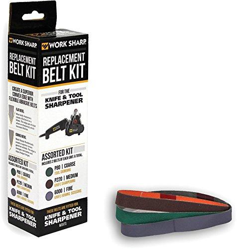 Work Sharp Knife Tool Sharpener Replacement Belt Kit WSKTS WSKTS-KT