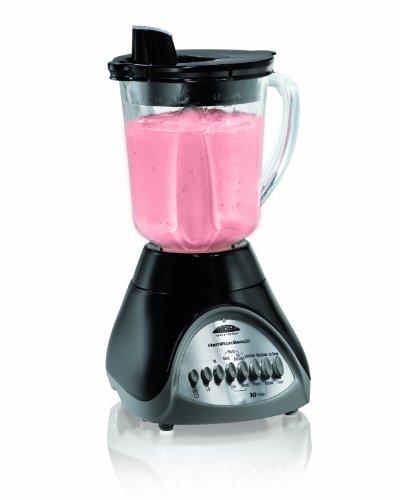 Hamilton Beach Smooth Pour 10-Speed Blender with 40 oz Glass Jar Black 50246