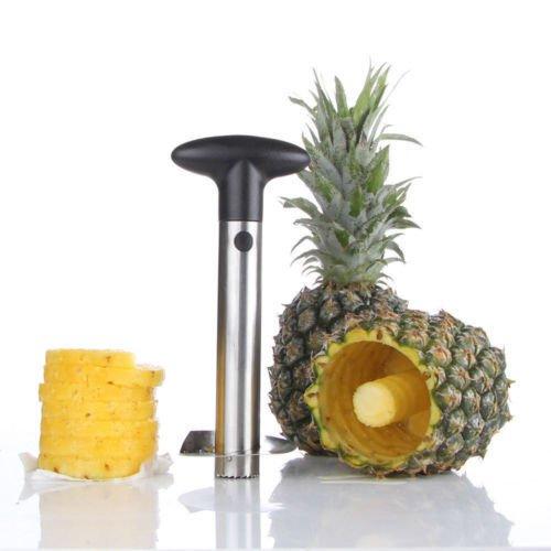 Pineapple Corer Slicer Cutter Peeler Stainless Steel Kitchen Easy Gadget Fruit by BombDealsStore