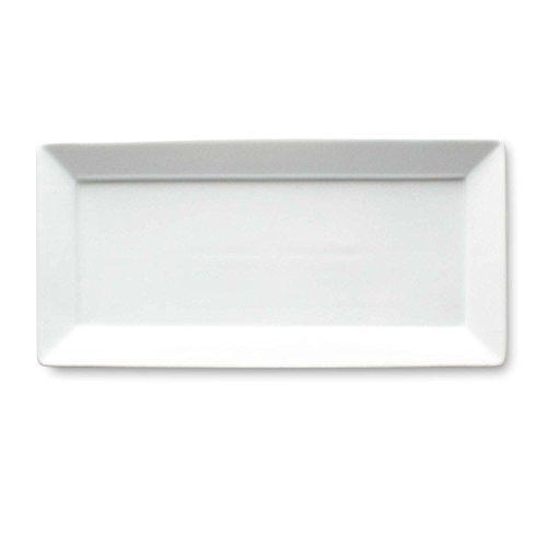 Tag Whiteware Porcelain Ceramic Rectangular Serving Platter Small 14125-Inch Long White