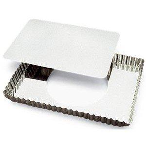 Gobel Rectangular Tart Mold 8 x 11-14 x 1 Deep with Loose Removable Bottom