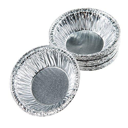 Moldiy Disposable 25 Aluminum Foil TartPie Pans Mold250 pcs