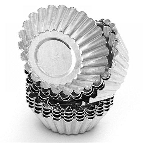TXIN 20 Pack Egg Tart Aluminum Cupcake Cake Cookie Mold Pudding Mould Tin Baking ToolL