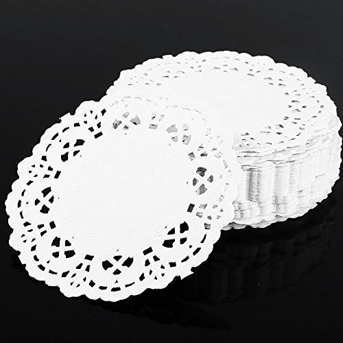 Fans Paper Doilies 35 Set of 250 Pack Cake Paper Doyleys Fruit Platter Paper Dessert Pad