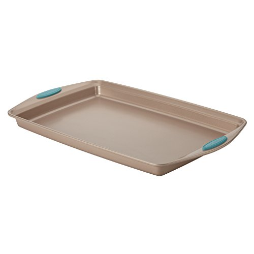 Rachael Ray 46683 Cucina Nonstick Bakeware with Grips Nonstick Cookie Sheet  Baking Sheet - 11 Inch x 17 Inch Latte Brown