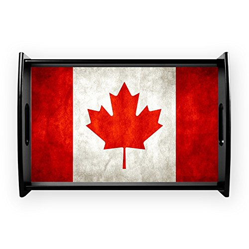 Small Serving Tray Canadian Canada Flag Grunge