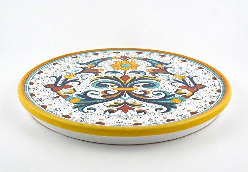 Hand Painted Italian Ceramic 118-inch Cake Cheese Platter Ricco Deruta - Handmade in Deruta