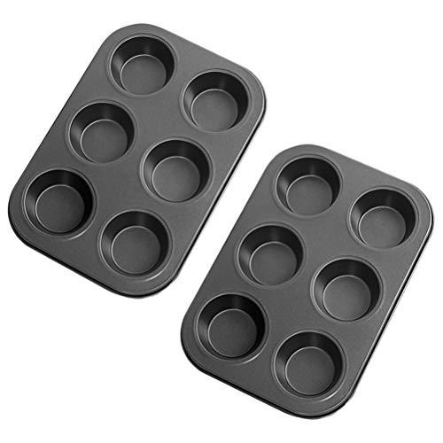 13peas 6 Cups Muffin Pan Set Carbon Steel Cake Mould Nonstick Baking Pan Dishwasher Safe Bakeware PansTin BPA Free Mini Bagel Pan Dishwasher Oven Microwave Freezer Safe
