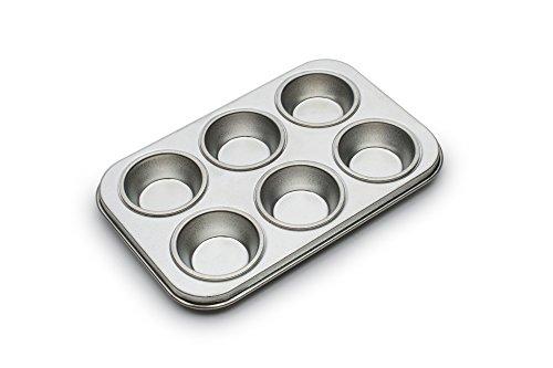 Fox Run 4934 Micro Muffin Pan Tinplated Steel 6 Cup