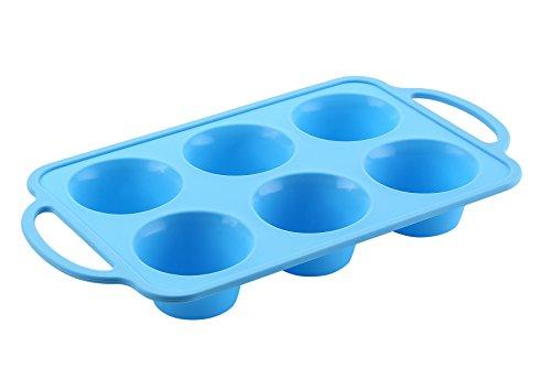 The Original Brand TRENDS home 6 Cupcake Pan Silicone Muffin Pan Silicone Cupcake baking cups 6 Cup Muffin Pan Silicone bakeware with a reinforced stainless steel frame for strength