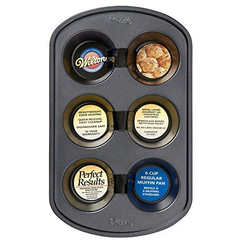 Wilton Perfect Results Premium Non-Stick Bakeware Muffin Pan 6-Cup