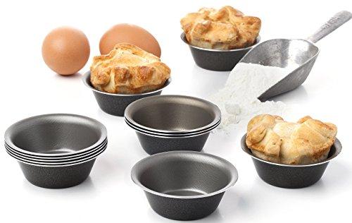 Maxi Nature Pack of 12 Mini Pie Muffin Cupcake Pans egg Tart Bakeware - 31 Inch Tins - 12 Molds NonStick Black bakeware