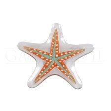 Coastal Serveware - Starfish Glass Platter - Nautical Serving Platter