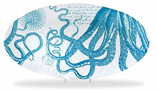 Michel Design Works Oval Serveware Platter Octopus