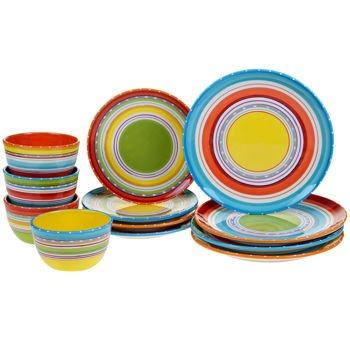 Certified International Mariachi 12-piece 100 Ceramic Dinnerware Set