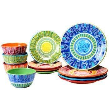 Certified International Tapas 12-piece 100 Ceramic Dinnerware Set